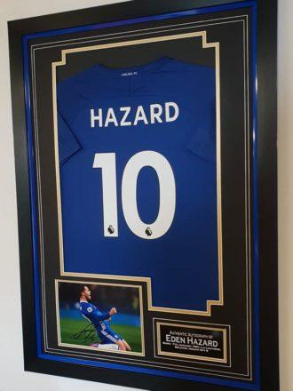 Eden Hazard Signed Chelsea Shirt Framed 2