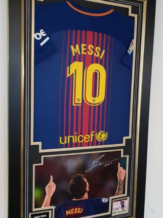 Messi Shirt Framed